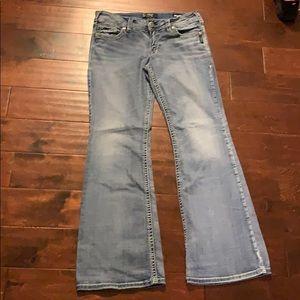Silver Suki jeans W32 L34 super stretchie